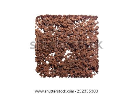 Ground coffee powder isolated on white background - stock photo