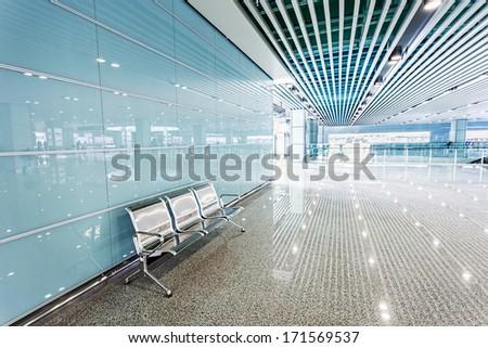 ground floor hall of office building  - stock photo