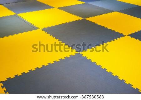 Ground futsal. futsal plastic court flooring tiles texture floor - stock photo