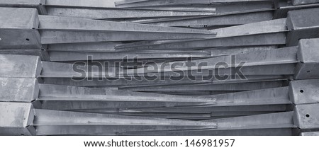 ground pods stacked for garden needs - stock photo
