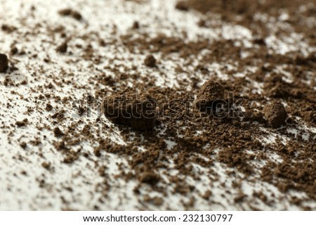 Ground surface, close up - stock photo