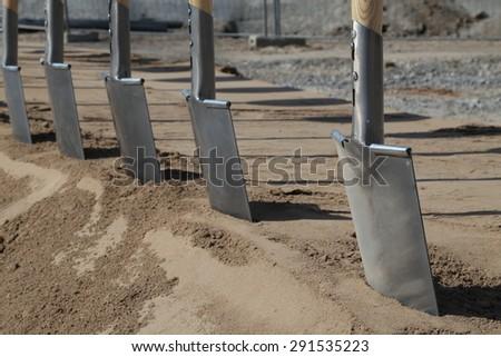 Groundbreaking - stock photo