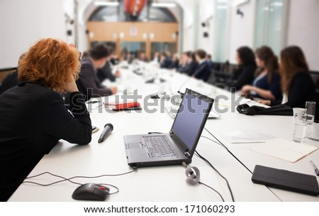 group business meeting - stock photo