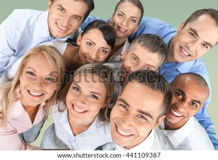 Group business people. - stock photo