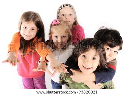 Group children - stock photo