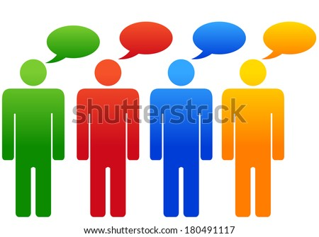 Group diverse discussion - stock photo