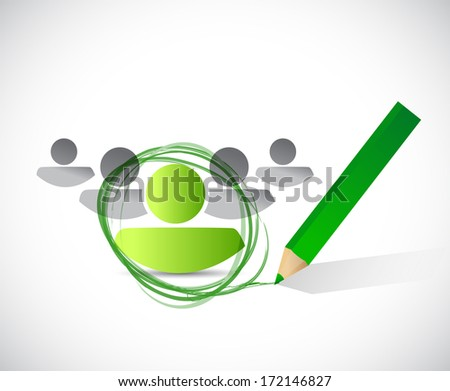 group leader selection process. illustration design over a white background - stock photo