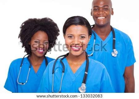 group of african medical doctors portrait - stock photo