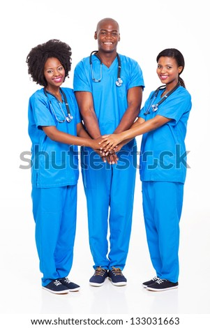 group of african medical professionals team - stock photo