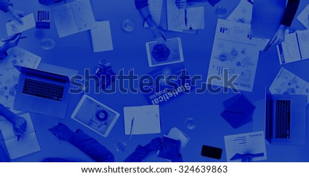 Group of Business People Business Issues Concept - stock photo