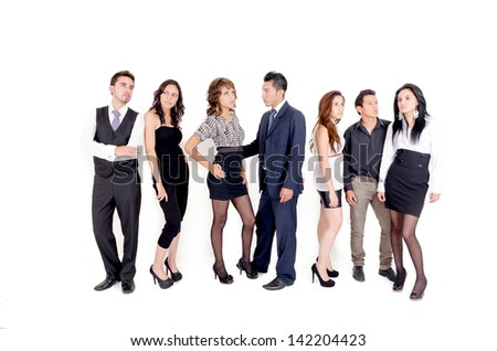 Group of business people. Business team. - stock photo