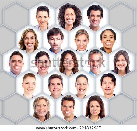 Group of business people. Business team collage. - stock photo