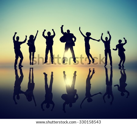 Group of Business People Celebration Success Concept - stock photo