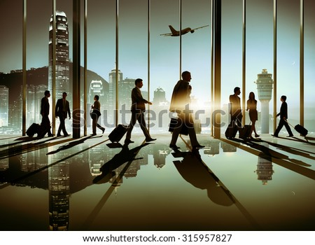 Group of Business People Connection Corporate Concept - stock photo