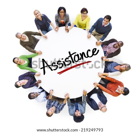 Group of Business People Discussing About Assistance - stock photo