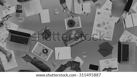 Group of Business People Discussing Business Issues Concept - stock photo