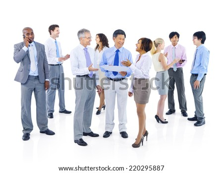 Group of Business People Discussion - stock photo