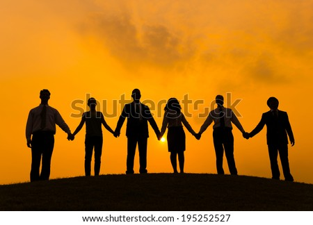 Stock Images similar to ID 125470976 - silhouette hand in ...