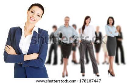 Group of business people  in elegant clothes  - stock photo