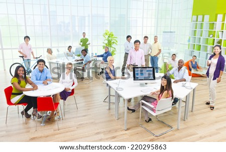 Group of Business People in the Office - stock photo
