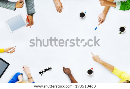 Group of Business People Planning for a New Project - stock photo