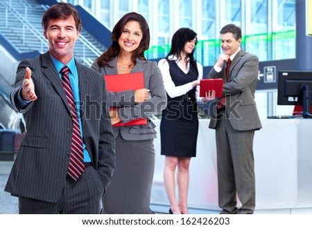 Group of business people. Teamwork and partnership concept. - stock photo