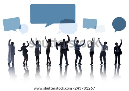 Group of Business People Teamwork Cheerful Celebrating Concept - stock photo