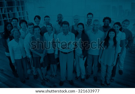 Group of Business People Teamwork Community Concept - stock photo