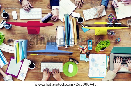 Group of Business People Working Meeting Team Concept - stock photo