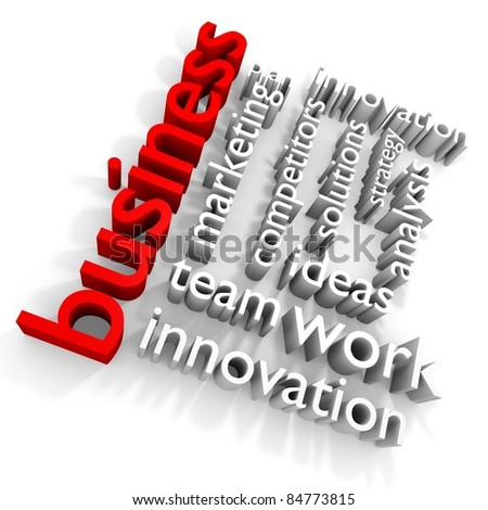 Group of business related words. 3D render - stock photo