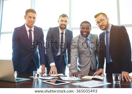 Group of businessmen - stock photo
