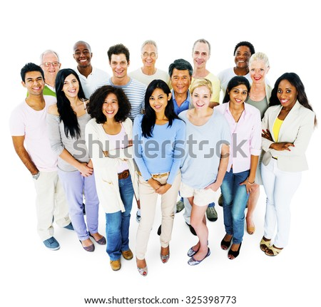 Group of Casual People Social Gathering Concept - stock photo