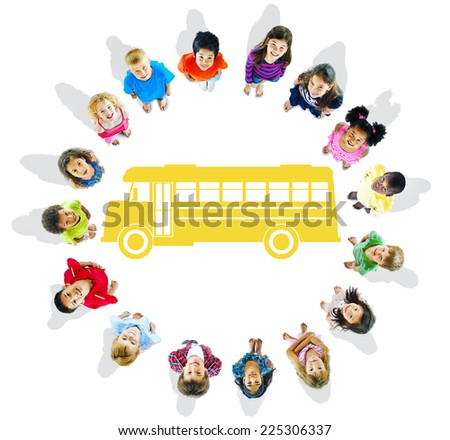 Group of Children and School Concept - stock photo