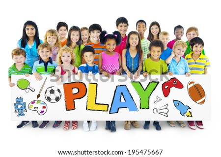 Group of Children with Play Concept - stock photo
