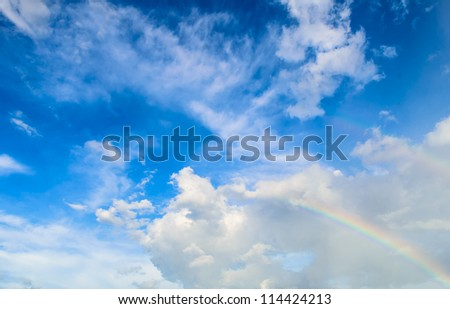 Group of cloud and blue sky - stock photo