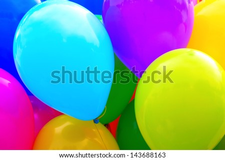 Group of color balloons as background - stock photo