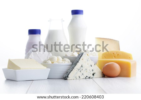 group of dairy product - food and drink - stock photo
