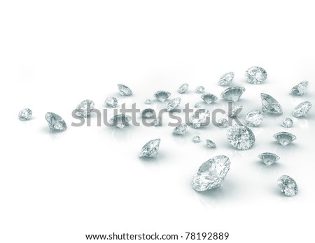 Group of diamonds - stock photo