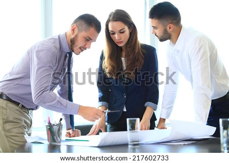Group of Engineers Planning for a New Project - stock photo