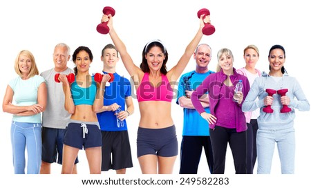 Group of fitness people. Weight loss and healthy lifestyle. - stock photo
