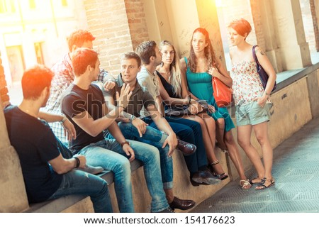 Group of Friends Together in the City - stock photo