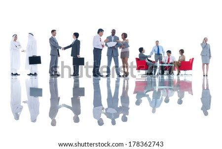 Group of Global Business People Meeting - stock photo