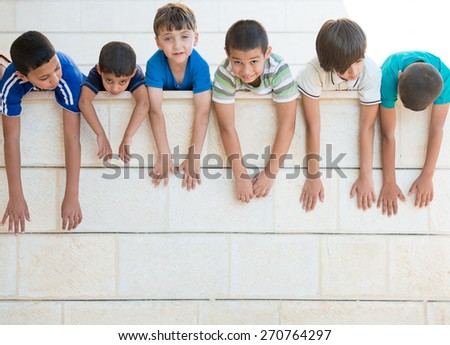 Group of happy children - stock photo