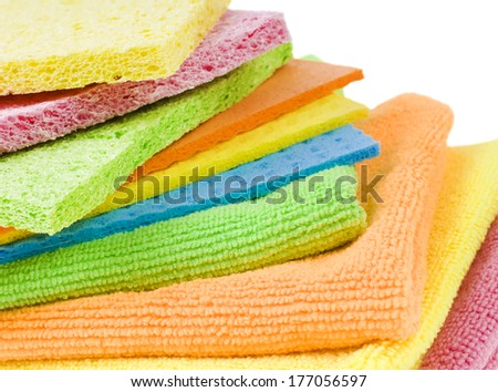 Group of kitchen sponges - stock photo