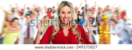 Group of laughing happy people. Happiness and success. - stock photo
