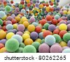 group of many plastic balls - stock photo
