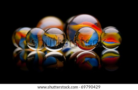 Group of Marbles - stock photo