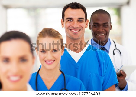 group of modern medical professionals portrait - stock photo