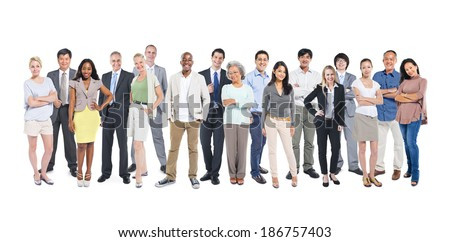 Group of multi-ethnic and diverse occupational people - stock photo