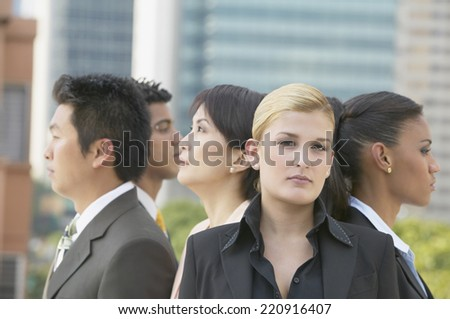 Group of multi-ethnic businesspeople - stock photo